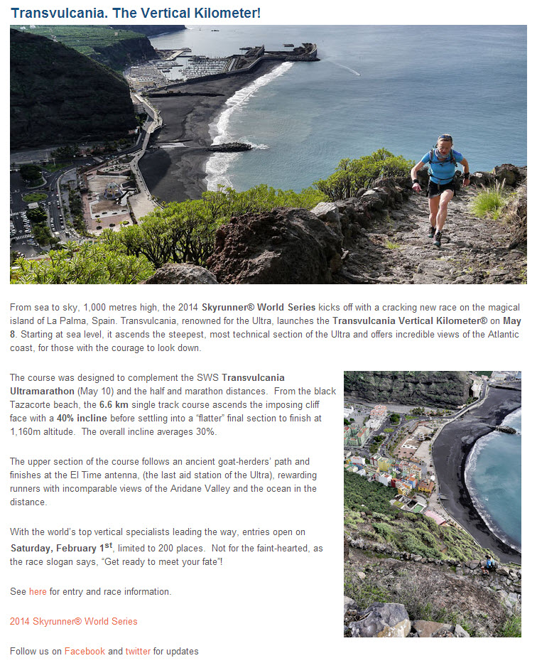 International Skyrunning Federation Screenshot