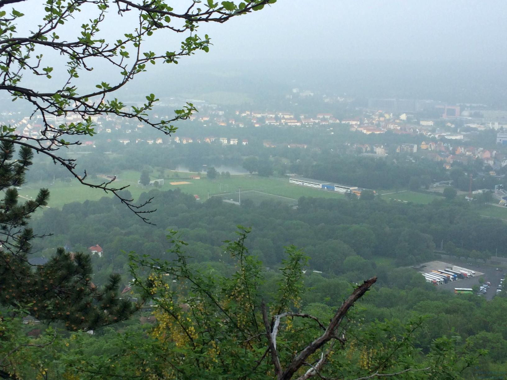 Das südliche Jena von den Kernbergen aus gesehen