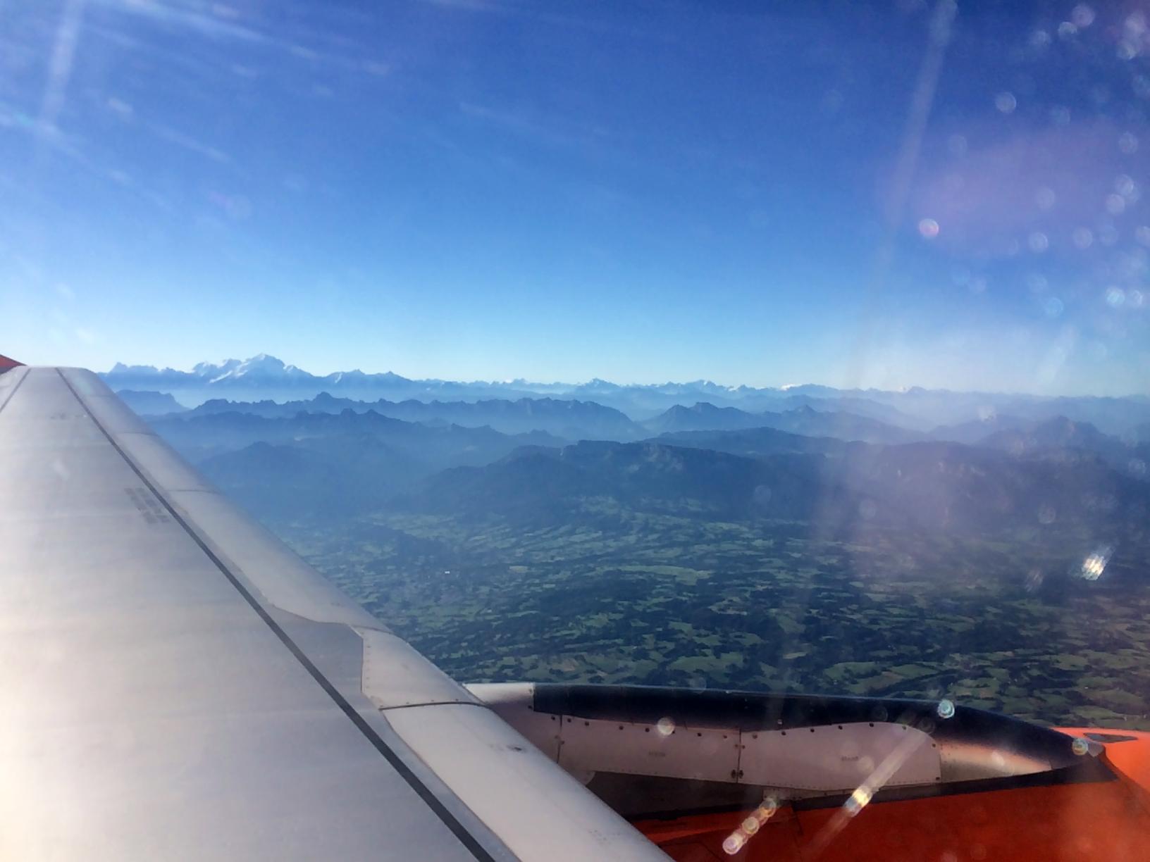 Anflug ... man unverkennbar, der höchste Berg der Alpen