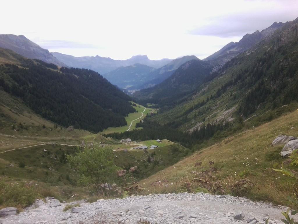 Aufstieg zum Col de Bonhome. Im August 2014 aufgenommen - UTMB Training mit Uwe
