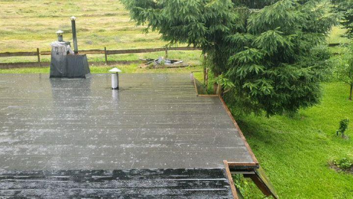Der erwartete Regen ... gibt's heute ausgiebig davon. Ran ans